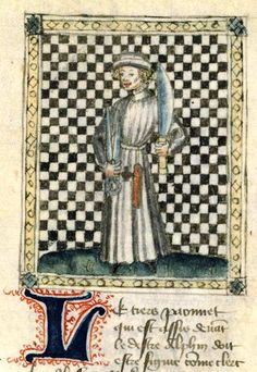 """""""From the office tailors""""    Jacques Cessoles of The Book of morality and noble men of the common people on the game of chess (Liber de moribus ...). Trad. Jean du Vignay. Paris, end of XIV th century or the beginning of the XV th . Parchment (305 sheets).  BNF, Manuscrits (fr. 1166 f� 34)"""