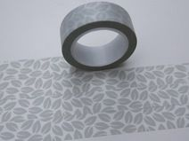 Tape BLÄTTER BLATT grau hellgrau transparent