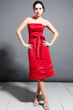 Charming sleeveless A-line bridesmaid dress
