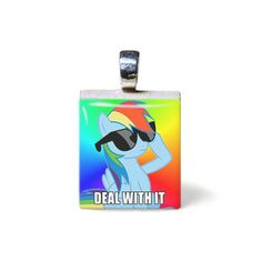 Rainbow Dash 'Deal With It' Meme Scrabble by InsomniacContraption, $8.00
