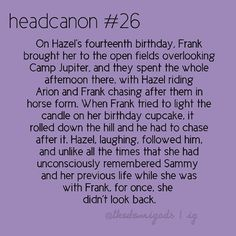 Frazel! <3 <---- YES! I am so glad they made a Frazel Headcanon! <3 << also love that they put a direct quote at the end <3