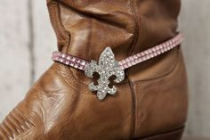 Fleur-de-lis Boot Bracelet - Pink - Classy Country www.classycountrystore.com