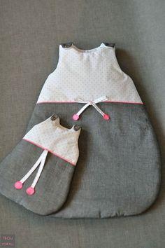 Mini & Maxi - gigoteuse bébé fille et poupée - by fikOu miKou