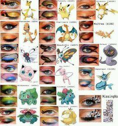 Pokemon Cosplay: Beautiful Pokemon Eyes Makeup Cosplay Tutorial