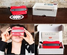 If you really want to go for it with your invites then this view master is absolutely incredible!! It displays a series of images of the couple plus all the details of the wedding date throughout the slides!