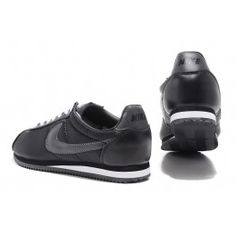 Nike Mens Cortez Basic Leather/Canvas '06 Casual Shoes All Black
