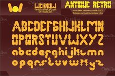 antique retro font by weknow on Creative Market