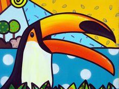 """Imã de geladeira personalizado com a Obra """"Tucano"""" da Artista Plástica Luciana Severo, na medida de 12,5 x 9,5 cm, laminação brilhante.    PRODUTO EXCLUSIVO BY LUCIANA SEVERO R$ 6,00"""