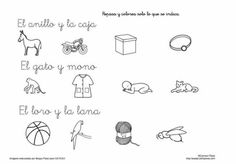 lee y pinta Montessori Activities, Grade 1, Therapy, Teacher, Math Equations, Reading, Words, Spanish, Read And Write
