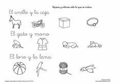 14 fichas de lectura comprensiva de frases lee y pinta