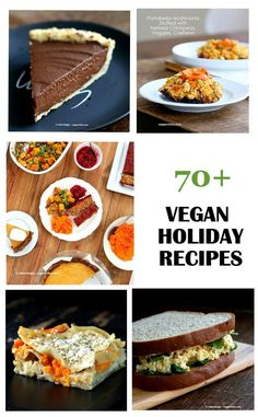 Vegan holiday Recipes. Vegan Christmas Recipes. Vegan holiday Dinner, Sides, Soups, Brunch, Dessert. Gluten-free and Soy-free Options.