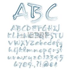 Abstract illustration of a sketched alphabet Stock Vector