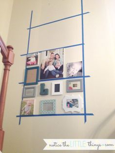 how to create a gallery wall - Home Wall Decor Family Wall Collage, Collage Mural, Photo Wall Collage, Picture Collages, Family Wall Decor, Collage Pictures, Picture Walls, Photo Walls, Collage Ideas