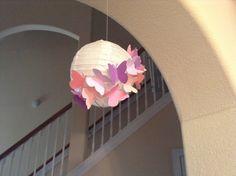 """6"""" fantasía color rosa y púrpura, linterna de papel, linterna de mariposa, fiesta de mariposa, mariposa decoración, decoración de la habitación, linterna de vivero, decoración colgante"""