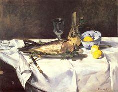 Edouard Manet — The salmon via Edouard ManetSize: 72x92 cm Medium:...