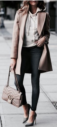 A long overcoat is all you need to make yourself look stylish no matter what !!!  Office Style ideas | What to wear to office | Girl style ideas |