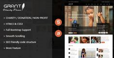 Free Responsive Grant Charity Nonprofit Ngo Template & Theme at WeebFast Template Site, Html Templates, Charity Children, Donate To Charity, Non Profit, Children Church, Coding, Events, Organization