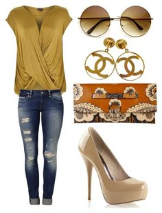 """Untitled #2102"" by ceceiscool1995 ❤ liked on Polyvore featuring moda, River Island, Valentino, Mavi i Chanel"