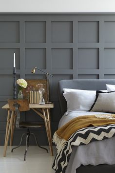 The wall is very cool and a very good way to do a modern twist on tudor style molding. LM