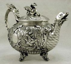Italian dragon teapot ~ c. 1890