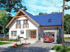 Projekt domu z poddaszem Puk 3 o pow. 131,04 m2 z garażem 1-st., z dachem dwuspadowym, z tarasem, sprawdź!