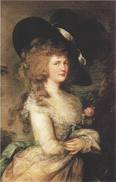 "Portrait of Georgiana, Duchess of Devonshire  by Thomas Gainsborough  >>>>im pritty sure this was the infamous ""stolen painting"""