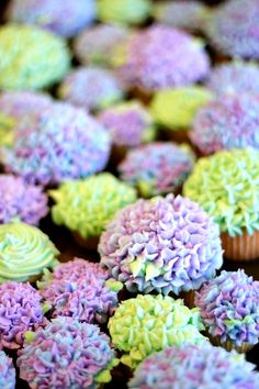 Hydrangea Cupcakes - Baby Shower Flower Power <3