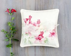 Pair of Cottage Floral Lavender Sachets Faded by BailiwickStudio