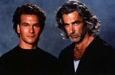 "PATRICK SWAYZE as 'Dalton'  and  SAM ELLIOTT as 'Wade'  in the movie,  ""Road House""."