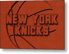 Knicks Metal Print featuring the photograph New York Knicks Leather Art by Joe Hamilton