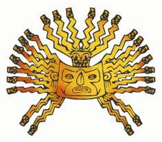 Inti  Es el dios solar Inca, hijo y siervo de Viracocha, reinaba sobre los hombres. Era la divinidad más importante. Se pensaba que él era un ancestro Manco Capac I y también de Mama Ocllo.