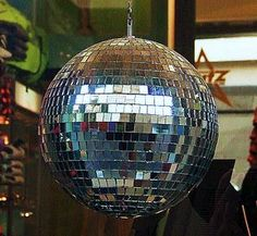 Disco ball made of recycled CDs