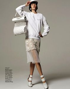 tell me white: mathilda tolvanen by stratis for grazia france 5th july 2013 | visual optimism; fashion editorials, shows, campaigns  more!