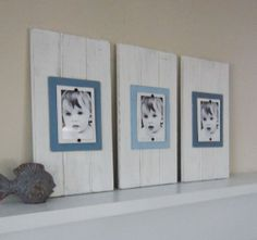 Set of Three Long White Plank Frames for 4X6 by ProjectCottage, $115.00