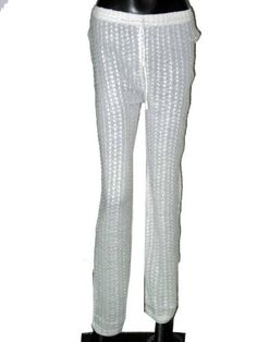 White Long Gaucho Palazzo Chicken Embroderey Bohemian Pants $24.00