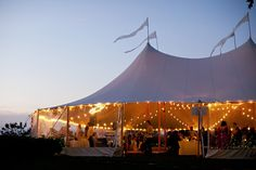 its an outdoor wedding...gotta have a tent for the reception