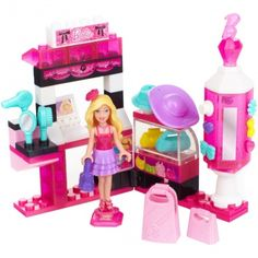 Mega Bloks Barbie Build 'n Style Fashion Stand Play Set