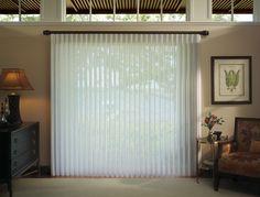 Solutions for sliding glass doors... no frustration of vertical blinds.