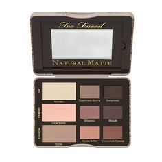 NEW! Too Faced Natural Matte Matte Neutral Eye Shadow Collection, Too Faced Summer 2015! - $36.00 I have been waiting for a follow up to the first Too Faced Matte Palette and this is absolutely gorgeous! It's a newly transformed take on the original Too Faced fave, the Natural Eyes Palette!