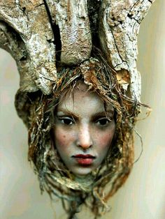 Extraordinary Female Fairy Face Wood Carving Patterns and Pinbarb Hatfield On Off The Beaten Path Driftwood Sculpture, Driftwood Art, Bronze Sculpture, Modern Sculpture, Sculpture Art, Metal Sculptures, Abstract Sculpture, Tree Carving, Wood Carving