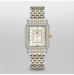 MICHELE® Watches - Deco II Diamond Two-Tone, Diamond Dial Watch