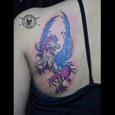 Photo by (dongtribal) on Instagram   #tattoo #hourse #hoursetattoo #unicorn #ponny #portraittattoo #cartoon #disney #tattoogirl #backtattoo #neotraditionaltattoo #colourtattoo #ink #realistictattoo #artwork #fantasytattoo #photooftheday #nghethuatxamthuduc #xamnghethuat #thuduc #thc #thuducdistrict #vietnam #asian #instagram Fantasy Tattoos, Colour Tattoo, Neo Traditional Tattoo, Back Tattoo, Girl Tattoos, Cover Design, Watercolor Tattoo, Vietnam, Unicorn