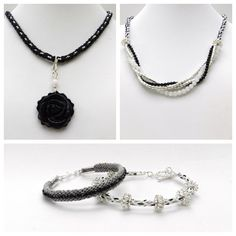 A very elegant and understated selection of designs made using kumihimo techniques and gemstones.
