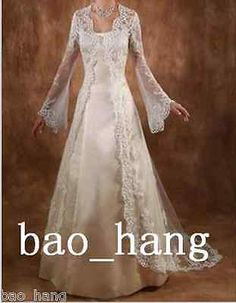 Vintage Long Sleeve Lace Wedding Jacket Cloak Bridal Wraps Jackets Custom Made