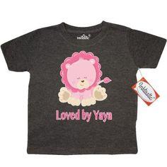a8b37b07 Inktastic Loved By Yaya Toddler T-Shirt Lion Pink Cute Animal Grandma  Greatest Grandmas House Spoils Grandkids Tees. Gift Child Preschooler Kid  Clothing ...