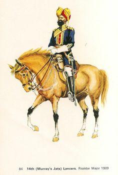 Risalder Major 14th(Murray's Jats) Lancers  1909
