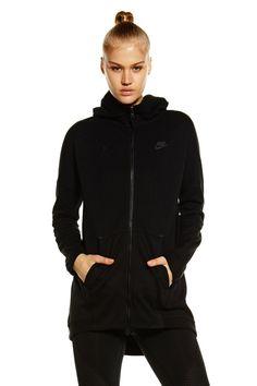 Nike Tech Fleece Cape FZ Knit – Black / Black