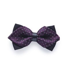 PINOTI PARTY PURPLE SHINY DOTTED PRE TIED BOW