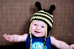 A beanie I've made.  100% of the proceeds goes to our adoption fund.  Help us bring our child home ;)  Bumblebee Beanie by MomentsSealed on Etsy, $20.00