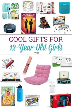 What gifts for 12 year old girl are the best? Here's a list of books, games, tech and more gift ideas your tween will love. 12 Year Old Birthday Party Ideas, Birthday Presents For Girls, Best Birthday Gifts, Boy Birthday, 12th Birthday, Girlfriend Birthday, Birthday List, 12 Year Old Christmas Gifts, Christmas 2019